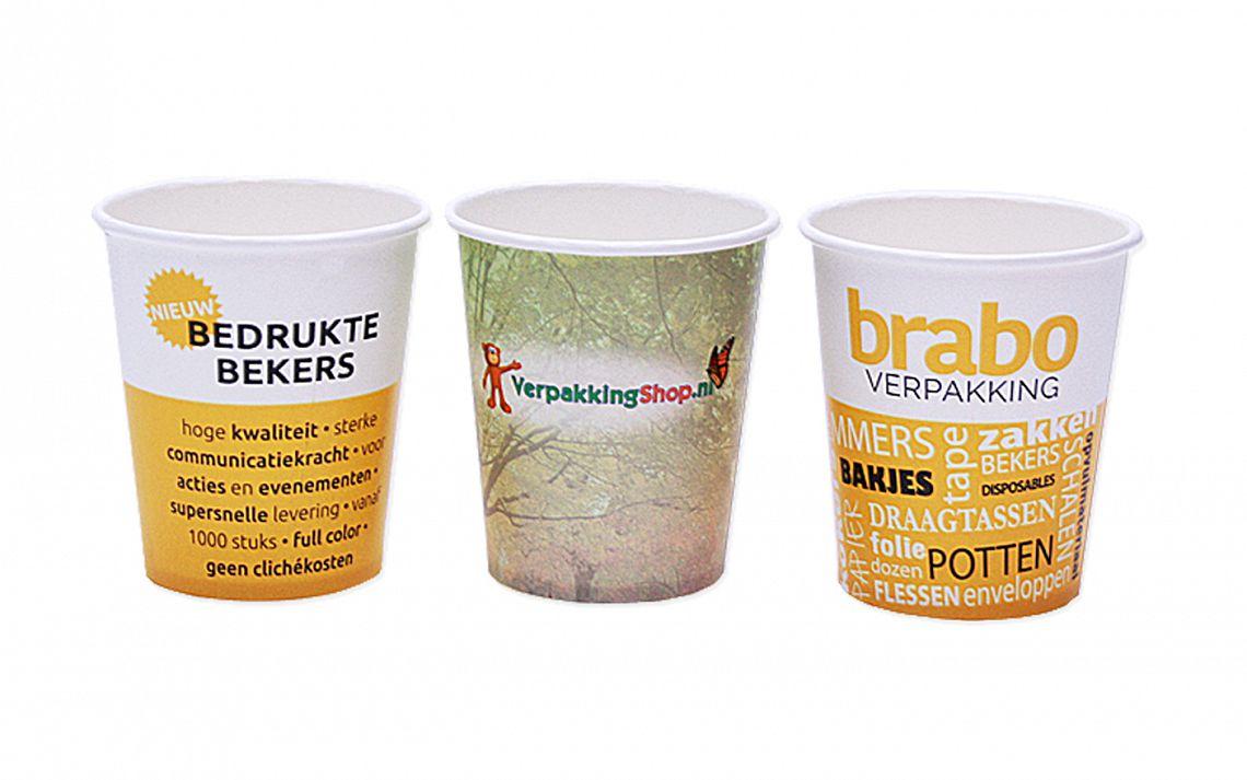 Bedrukte bekers | Brabo Verpakking
