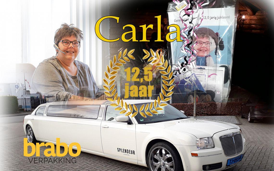 Carla 12,5 jaar in dienst bij Brabo Verpakking
