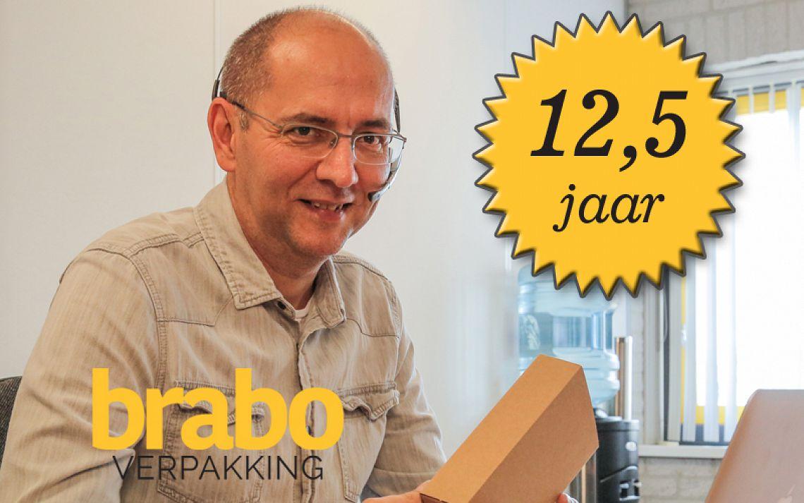 Harrie 12,5 jaar in dienst bij Brabo Verpakking
